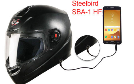 Steelbird SBA-1 HF helmet with handsfree music and calls connectivity launched