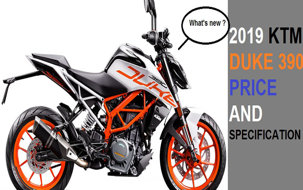 2019 KTM duke 390 price and specification in India