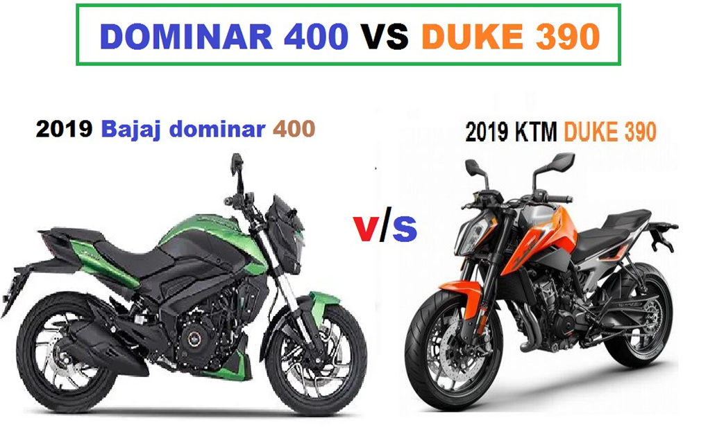 Dominar 400 vs duke 390 comparison