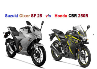 Suzuki Gixer SF 250 vs Honda CBR 250R Comparison and Review