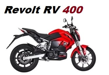 Revolt RV 400 the best electric motorcycle available in india.