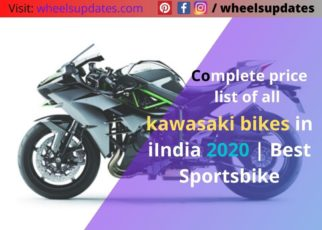 Complete price list of all kawasaki bikes in iIndia 2020