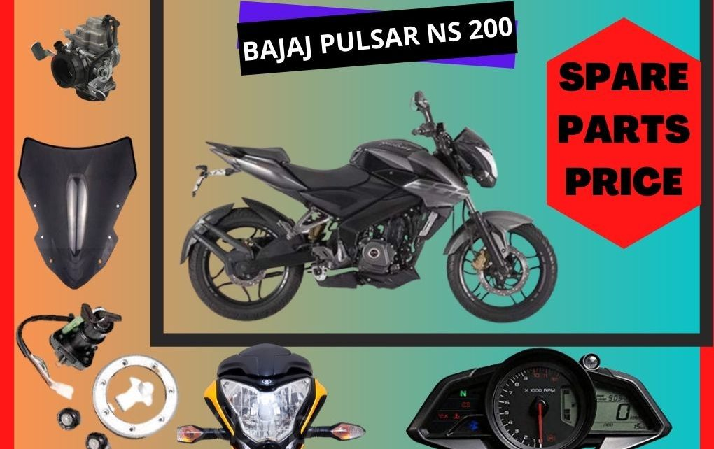 BAJAJ PULSAR NS 200 SPARE PARTS PRICE IN INDIA