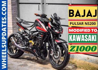 Bajaj pulsar NS200 modified to look like kawasaki Z1000