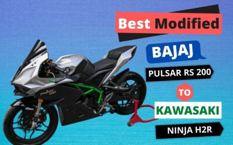 best modified bajaj pulsar RS 200 to kawasaki ninja H2R