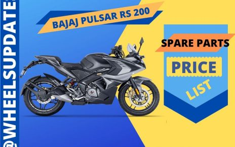 BAJAJ PULSAR RS 200 SPARE PARTS PRICE LIST