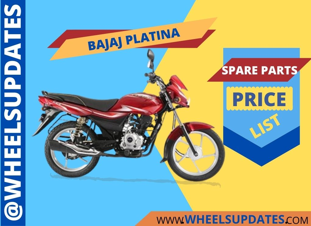 Bajaj Platina spare parts price list PDF