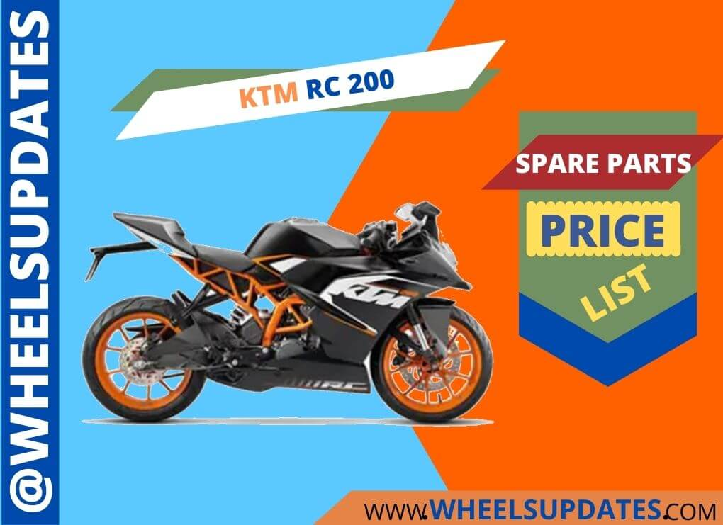 ktm rc 200 spare parts price list