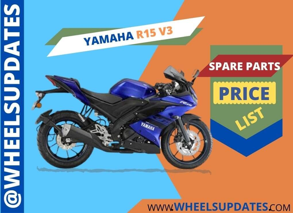 Yamaha R15 v3 spare parts price list in India