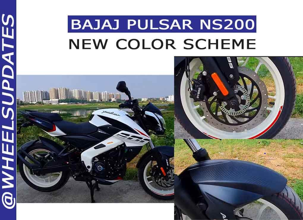 Bajaj pulsar NS 200 new colors scheme