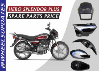 hero splendor plus spare parts price list