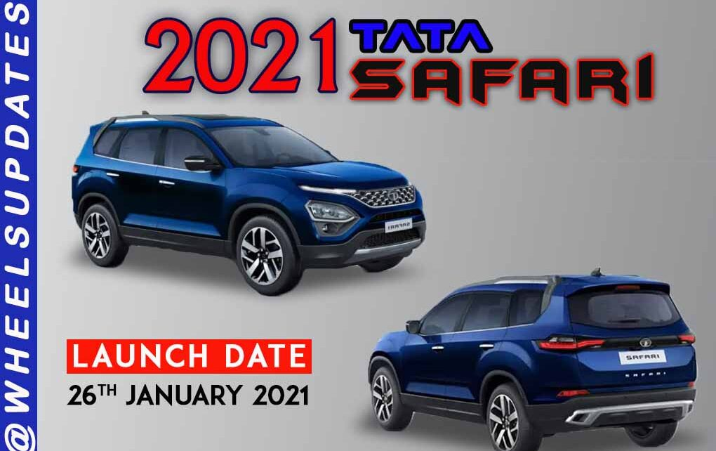 2021 tata safari will be launch in India on 26th january 2021