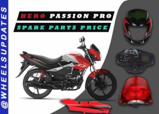 Hero passion pro spare parts price
