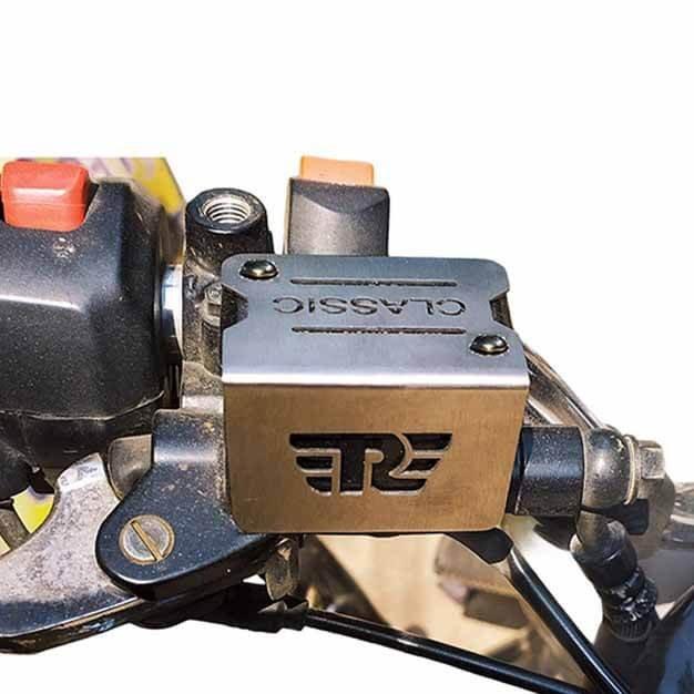 Disc brake fluid-oil reservoir cover for Royal Enfield classic 350