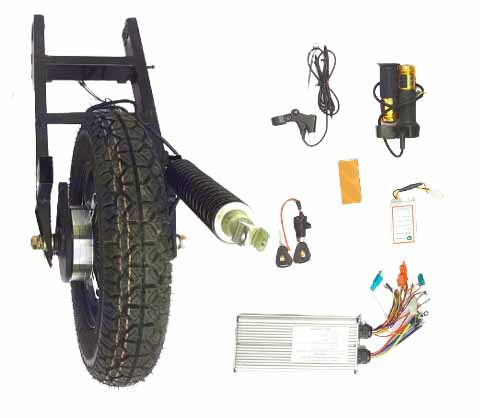Electric scooter hub motor coversion kit for TVS scooty pepe