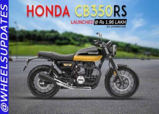 Honda CB350RS launched at Rs 1.96 lakh