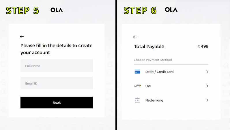 How to book ola electric scooter online step 6 AND 7
