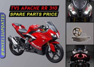 TVS Apache RR 310 spare parts price list in india 2021